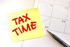 Rappel canadien de date-butoir d'impôts Photo stock