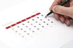 Rappel de calendrier Photographie stock