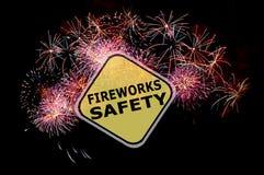 Rappel de sécurité de feux d'artifice Photo stock