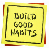 Rappel inspiré de bonnes habitudes de construction Photo stock