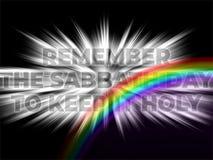 Rappelez-vous le jour de sabbat pour le garder affiche de citation de motivation de Sainte Bible illustration de vecteur