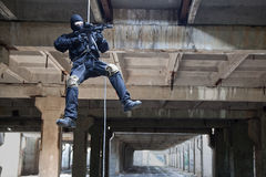 Rappeling assault Royalty Free Stock Photos