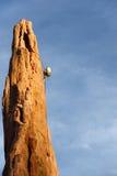 rappelling βράχος ορειβατών Στοκ Εικόνες