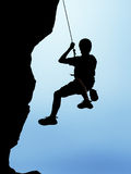 Rappelling Royalty Free Stock Photography