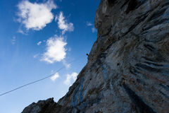 Rappelling Stock Image