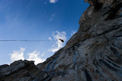Rappelling Royalty Free Stock Image