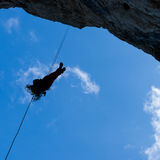 Rappelling Royalty Free Stock Photos