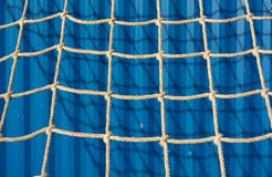 Rappelling Wall with Rope Netting Stock Photos