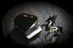 Rappenklavier-Dunkelheitshintergrund stockbilder