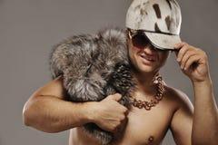 Rapper affascinante alla moda Fotografie Stock