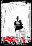 Rapper background Stock Photo