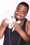 Rapper with cash Royalty Free Stock Photography