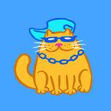 Rapper Cat Vector Illustration Royalty Free Stock Image