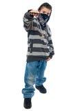 Rapper do rapaz pequeno Fotos de Stock Royalty Free