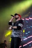 Rapper do ST na fase Fotos de Stock Royalty Free