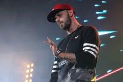 Rapper do ST na fase em Moscou Fotos de Stock