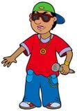 Rapper dos desenhos animados ilustração do vetor