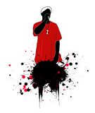 Rapper  illustration Royalty Free Stock Image