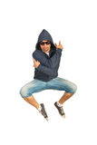 Rapper man jumping Stock Images