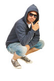 Rapper man posing Royalty Free Stock Photography