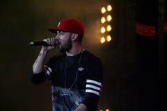 Rapper-Sänger St. in Moskau Lizenzfreies Stockfoto