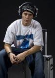 Rapper sitting stock photos