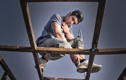 Rapper on structure Stock Image