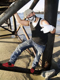 Rapper under a dock Stock Images
