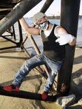Rapper under a dock Stock Images