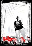 Rapperhintergrund Stockfoto