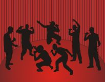 Rappers dancing Royalty Free Stock Image