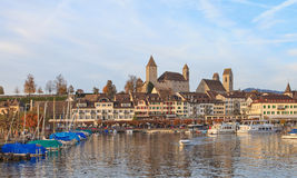 Rapperswil, autumn evening Stock Photo