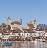 Rapperswil Cityscape. Rapperswil city, Switzerland - cityscape & castle Stock Photos
