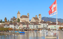 Rapperswil cityscape. Rapperswil, Switzerland - cityscape in autumn Stock Photos
