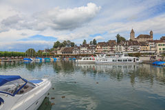 Rapperswil cityscape. Rapperswil, Switzerland - cityscape on a cloudy day Royalty Free Stock Images