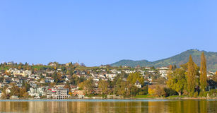 Rapperswil cityscape. Rapperswil, Switzerland - cityscape with Lake Zurich, autumn Royalty Free Stock Photography