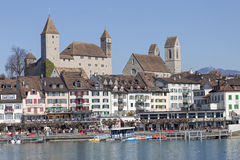 Rapperswil cityscape Royalty Free Stock Images