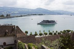 Rapperswil harbor, Lake Zurich Royalty Free Stock Images