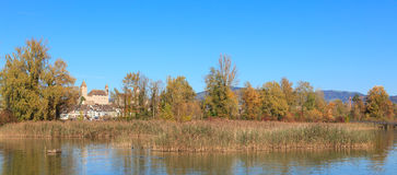 Rapperswil, lac Obersee, automne Images libres de droits