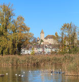 Rapperswil, lac Obersee, automne Photos stock