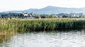 Rapperswil and Lake Zurich Stock Images