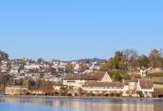 Rapperswil, paisaje urbano del otoño Fotografía de archivo
