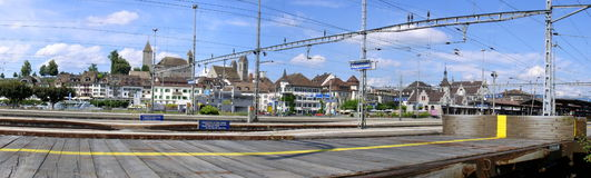 Rapperswil railway station Stock Image