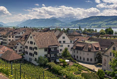 Rapperswil, Switzerland stock image