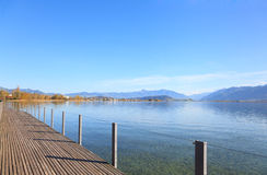 Rapperswil, vue sur le lac Obersee Images stock