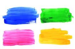 Rappes colorées de balai d'aquarelle Image libre de droits