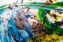 Rappes de peinture - couleurs vibrantes Photos stock