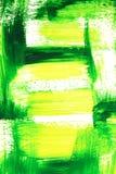 Rappes vertes et jaunes vibrantes de balai Image libre de droits