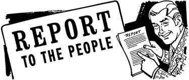 Rapport aan de Mensen Stock Foto's