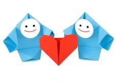 Rapport, amour, et métaphore romantiques de salutation Photos stock